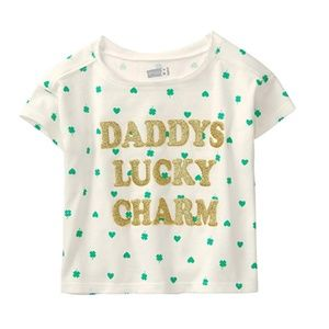 🍍 Crazy 8 NEW Daddy's Lucky Charm T-Shirt Clover